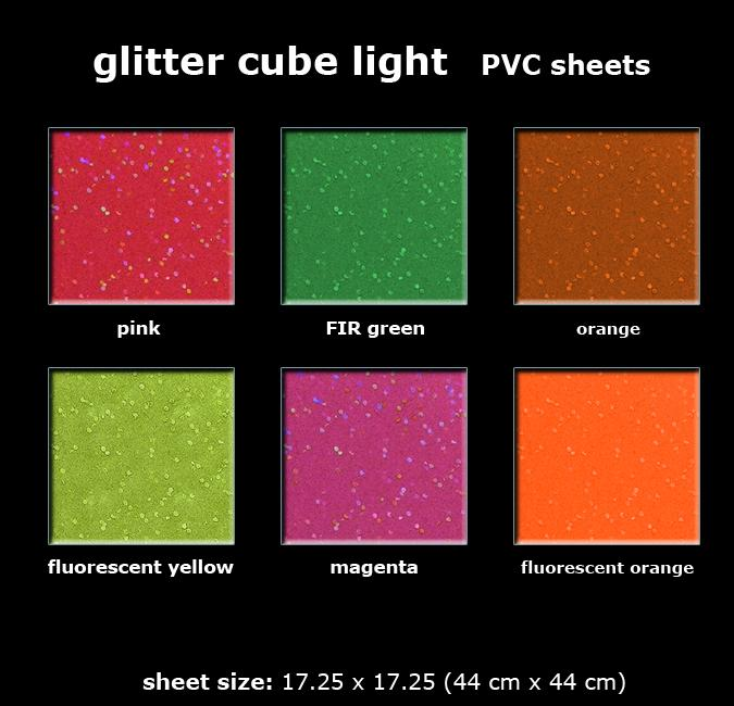 GLITTER CUBE LIGHT SHEETS