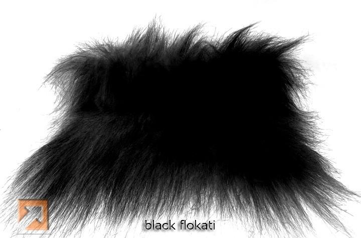 """""""Genuine Fake""""tm Black Flokati Fur"""