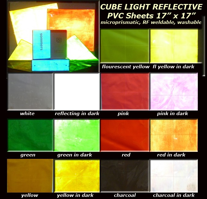 Cube Light Reflective Sheet Color Card