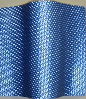 Blue Metallic Honeycomb Lenticular in Rolls Polycarbonate