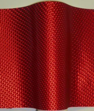 Red Metallic Honeycomb Lenticular in Rolls Polycarbonate