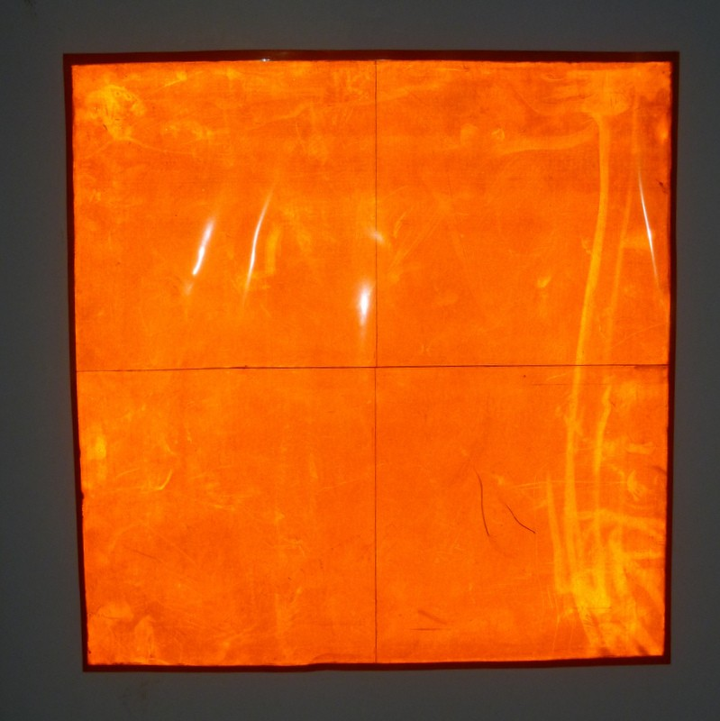 Orange Cubelight Sheet in Dark