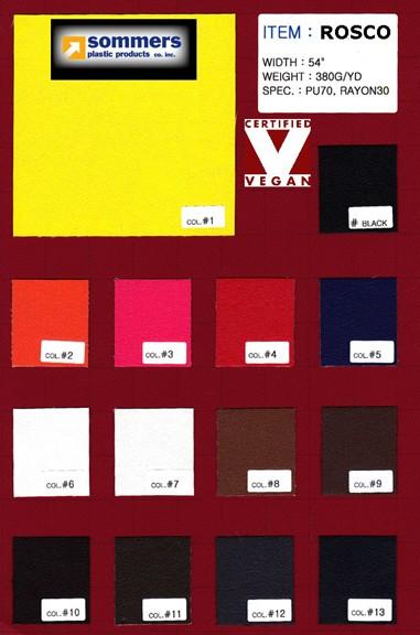 Rosco Polyurethane Color Card