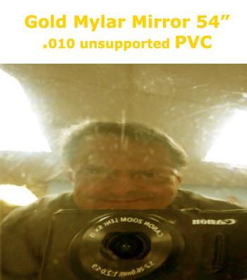 Gold Mylar Mirror Finish PVC