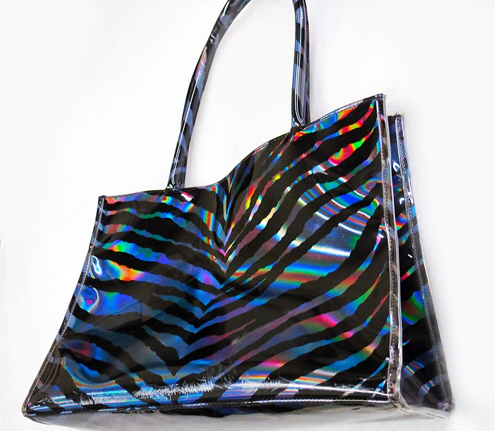 Zebra Holographic PP Sheet Handbag