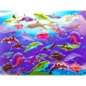 3D Dolphins Lenticular Sheet