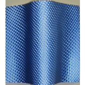 Blue Metallic Honeycomb Lenticular in Rolls Polycarbonate