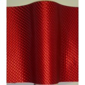 Red Metallic Honeycomb Lenticular in Rolls Polycarbonate