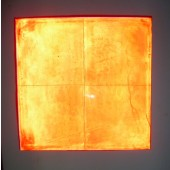 Fire Red Cube Light Sheets in Dark with Flash
