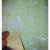 Aqua Pearlized Floral Expanded PVC