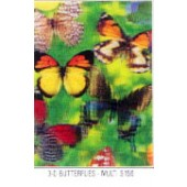 Large Butterfly Lenticular Sheet